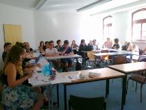 Begegnung im Institut für Romanistik