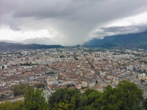 Blick auf Grenoble am 17. Mai 2013